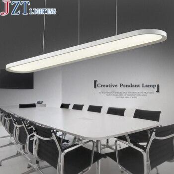 Z современная светодиодная акриловая ресторанная люстра в форме эллипса, дизайн офисного потолочного вентилятора, лампа для обучения, импо...