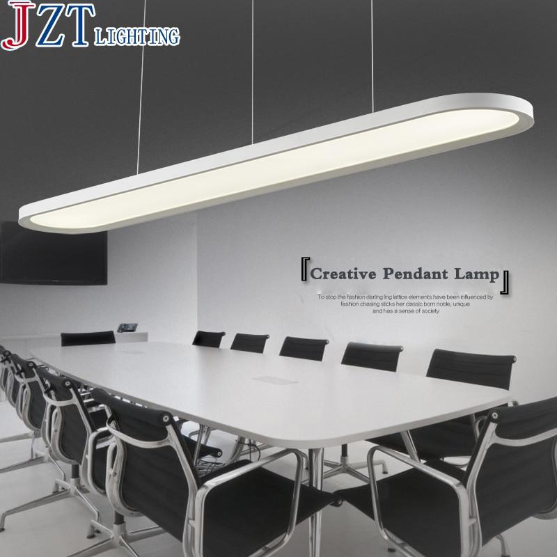 Z Modern LED Acrylic Restaurant Chandelier Ellipse Shape Design Office Ceiling <font><b>Fan</b></font> Bar Study Lamp Import LED Patch Ceiling Light