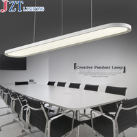 Z Modern LED Acrylic Restaurant Chandelier Ellipse Shape Design Office Ceiling Fan Bar Study Lamp Import LED Patch Ceiling Light