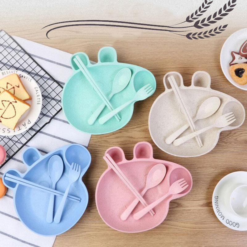 Yilala 4 pieces/Set Peppa Pig Dish Baby Cartoon Dinner Tableware Plastic Plates Bowl Spoon Feeding Dishes for Kids Dinnerware -in Dishes \u0026 Plates from Home ... & Yilala 4 pieces/Set Peppa Pig Dish Baby Cartoon Dinner Tableware ...