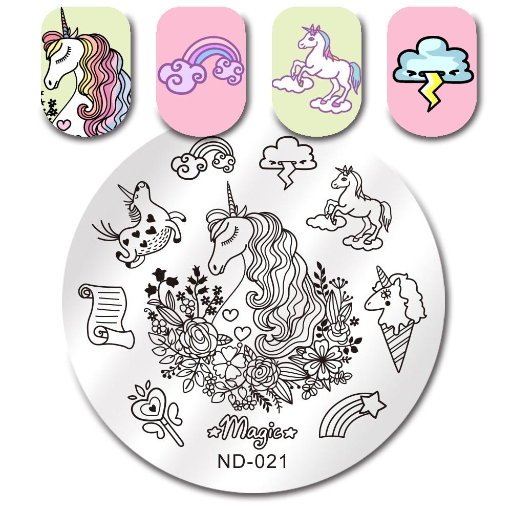 Geometric Reverse Stamping Nail Art Born Pretty Review: BORN PRETTY Nail Stamping Plate Unicorn Geometry Flower
