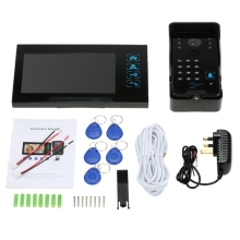Wired Press Key 7 Inch Video Door Phone Intercom Doorbell System Kit Night-Vision 1 Rfid Keypad Code Ir Camera +1 Monitor цена в Москве и Питере