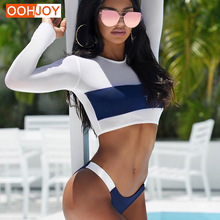 2018 New font b Slim b font Viscose Long Sleeve Bikini Women Bathing Suit Tight Swimsuit