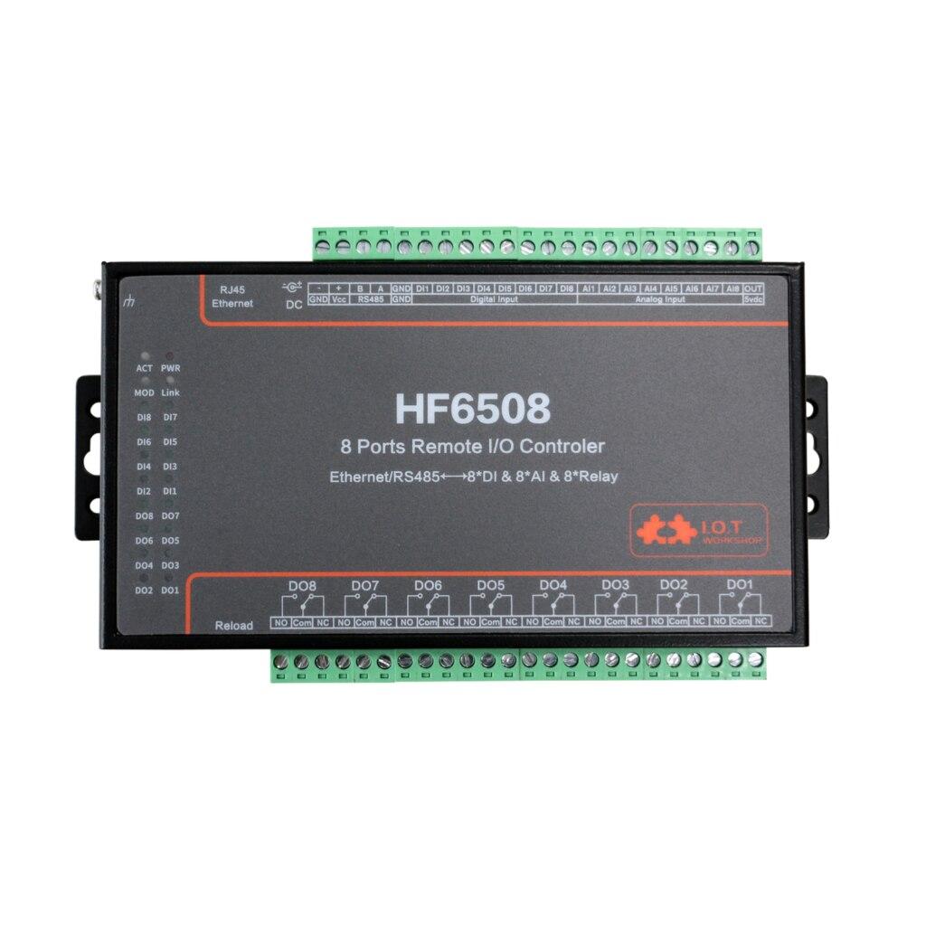Contrôleur d'e/s à distance 8 voies Ethernet/RS485 8CH entrée numérique entrée analogique relais à distance 8CH