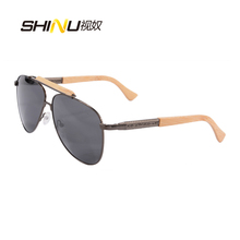 Pilot Sunglasses Men Brand Polarized Driving Sunglasses With Real Wooden Arms Unisex UV400 Protection Eyewear Oculos De Sol 1565