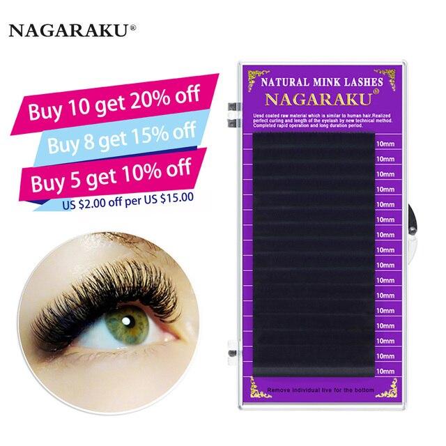 dbffc614afc NAGARAKU high-quality faux mink eyelash extensions individual eyelashes  false eyelashes J B C D soft and natural eyelashes