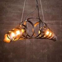 Винтаж подвесные светильники Кухня приспособления для Обеденная Ресторан Бар Ретро подвесной светильник Промышленный помещении домашнег