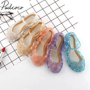 Kids Sandals Shoes Clogs Dress-Up Crystal Girls Princess Fashion Children's Candy-Color