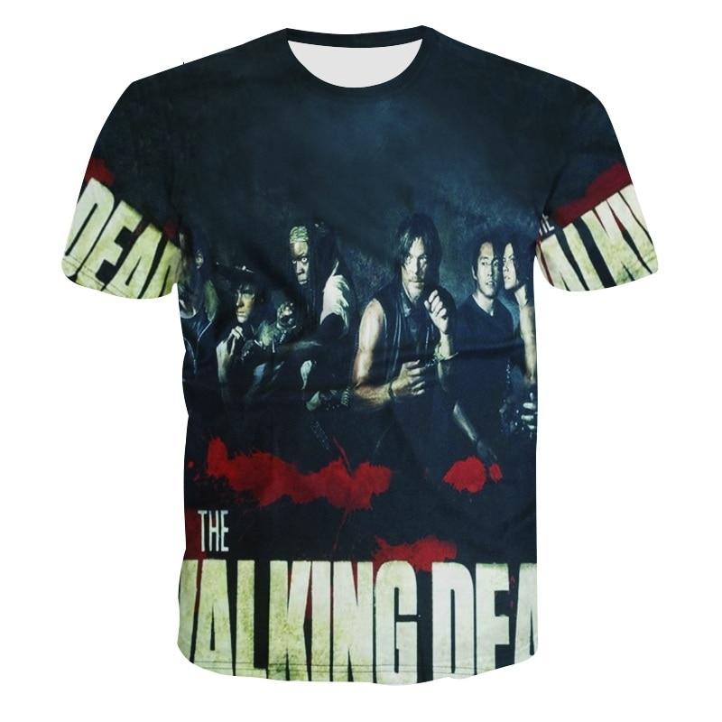 Herren 3D T-Shirt The Walking Dead Lustiges T-Shirt Top Herren - Herrenbekleidung - Foto 1