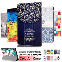 PU Leather Case For Lenovo Tab 2 A10 70 Tab2 A10 70F A10 30 X30 X30F