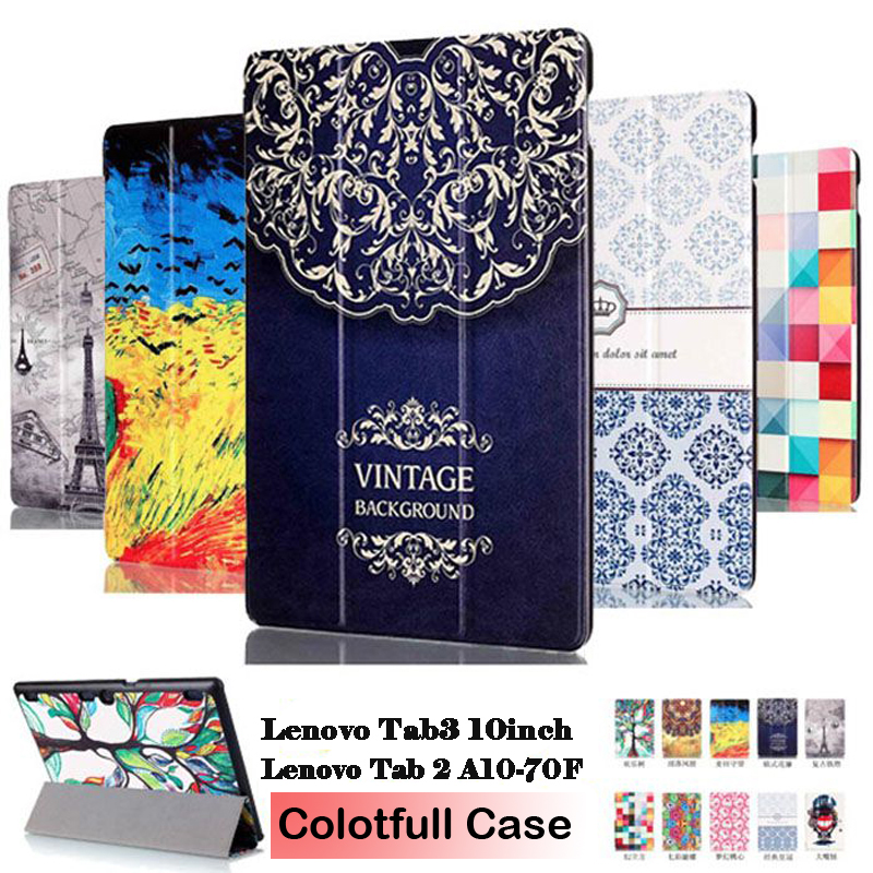 PU Leather Case For Lenovo Tab 2 A10 70 Tab2 A10-70F A10-30 X30 X30F A10-70L Tablet PC Case For Lenovo 10inch Tab 2 A10-70 case for lenovo tab 4 10 plus protective cover protector leather tab 3 10 business tab 2 a10 70 a10 30 s6000 tablet pu sleeve 10