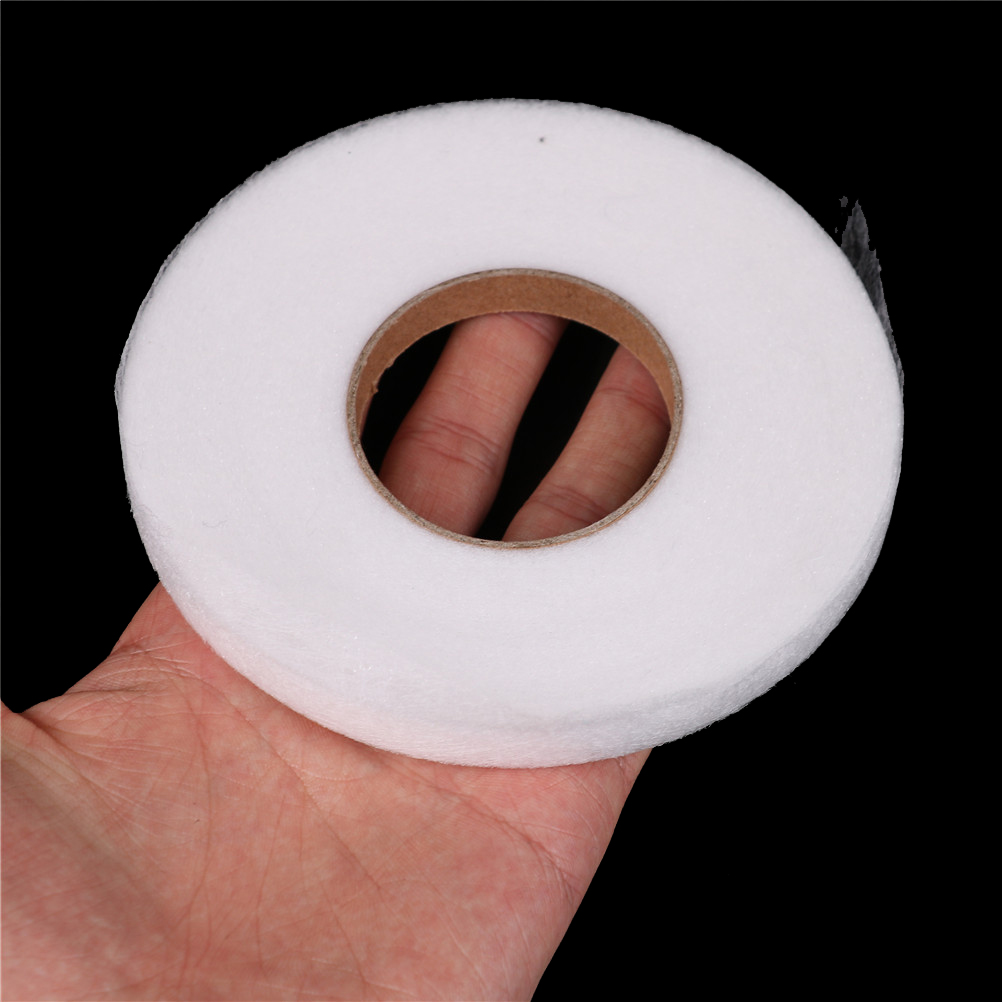 70 Yards 1M White Double Sided Adhesive Tape Fusible Interlining Fabric Tape Iron On DIY Cloth Apparel Sewing Accessory