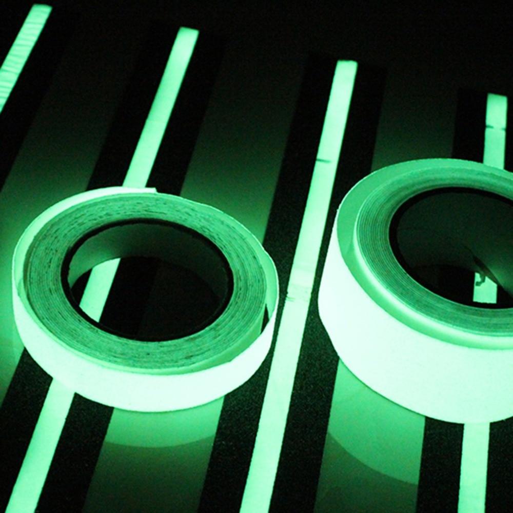 Nueva 1 M * 15mm Cinta Luminosa Auto-adhesivo Brillan En la noche de Seguridad E