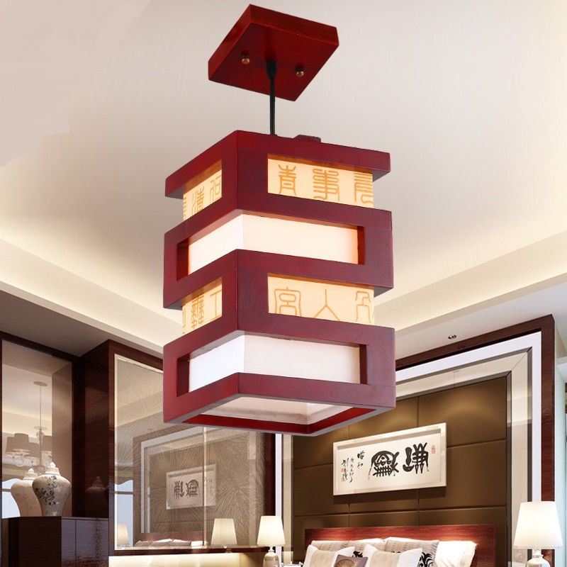 Chinese style Wooden wood Pendant Lights hotel study restaurant dining creative Hallway wood pendant lamp single head ZA ZS47 classical chinese food industry restaurant bar cafe original wood single head pendant lights rmy 0247