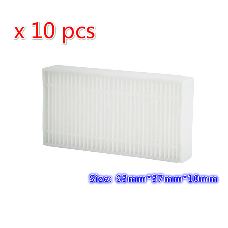 10pcs/lot Robot Vacuum Cleaner Parts for Fmart zj-c1 Cleaners E-R550W E-R302G YZ-Q1 YZ-Q2 FM-R150 FM-R330 Hepa Filter 10pcs replacement hepa dust filter for neato botvac 70e 75 80 85 d5 series robotic vacuum cleaners robot parts