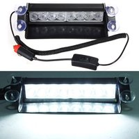 Promotion Car Vehicle 8 LED Emergency Dash Deck Truck Warning Strobe Flash Light White