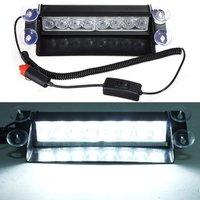 Promozione!! Auto 8 LED Di Emergenza Dash Deck Truck Attenzione Strobe Flash Light Bianco,,