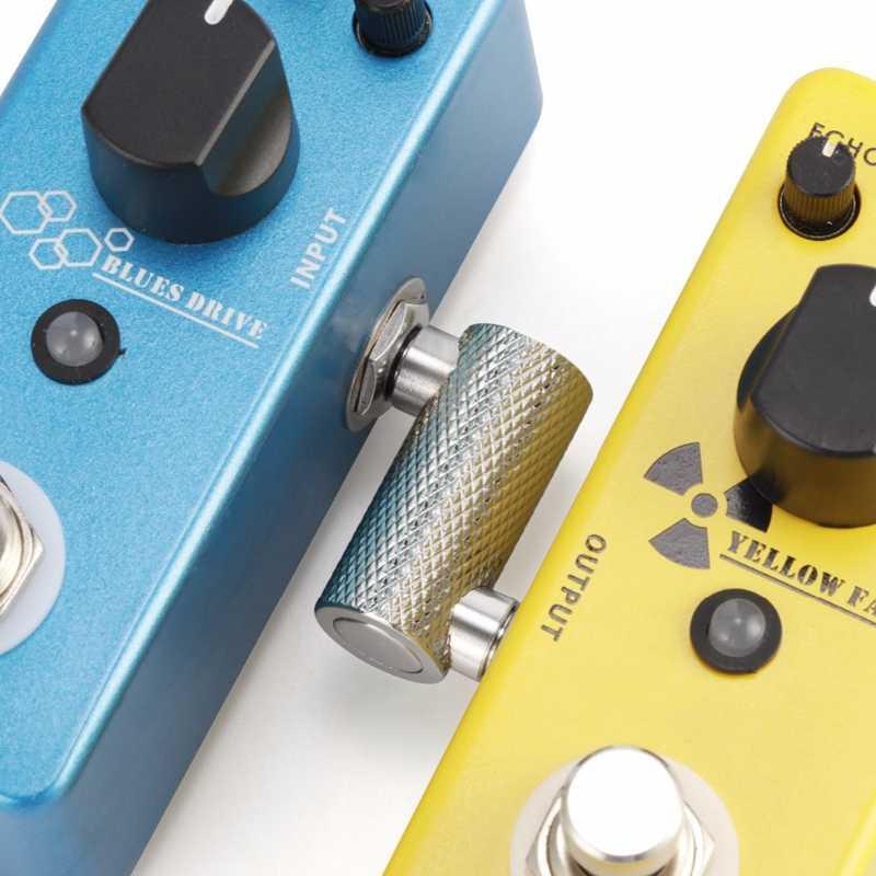 6.35 adaptateur prise pédale coupleur Sz Type connecteur pour guitare effet pédale 1/4 pouces haute qualité amplificateur adaptateur