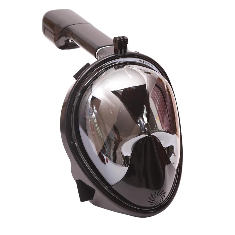 Anti Brouillard Full Face Snorkeling Placage Masque de Plongée Tuba 2 Dans 1 Pour Gopro 180 Degrés Sec Facile Livraison Souffle équipement De plongée Tube