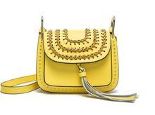 2016 Fashion Famous Brand Flag Bag Bohimian Style Saddle Tsssel Bag Ladies Genuine Leather Messenger Bag