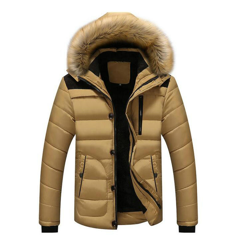 Winter Jackets Coats Parkas Hooded Mens Clothing Warm Thick Men's Casual Male Outwear