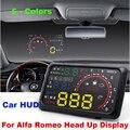 """Auto 5.5 """"Brisas Projetor HUD Head Up Display OBD II Carro De Diagnóstico de Dados 147 156 159 164 166 4C 8C GT Brera Mito Aranha"""
