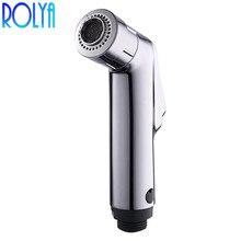 Rolya ABS Биде гигиенический душ для унитаза высокого давления маленький ручной душ для ванной Хромированная Пластина shattaf мобильный ручное биде спрей
