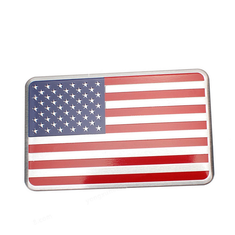 Aluminum American Flag Car sticker logo Logo Badge Auto Styling sticker Accessories For  ...