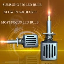 DLAND собственный F26 360 градусов светящиеся наиболее фокусировки 52 Вт 5200LM авто светодиодный лампа с SAMSUNG чип, h1 H3 H7 H11 9005 9006 H4