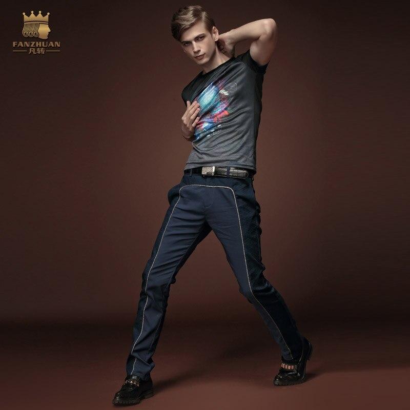 Ücretsiz Kargo Yaz yeni erkek erkek ince moda rahat kısa kollu baskı T-shirt dibe ince 15641 T gömlek promosyon