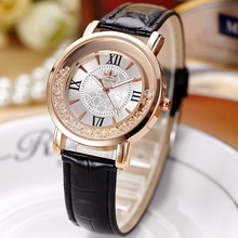 Fashion Ladies Watch Women Leather Strap Rhinestone Quartz Women s Watch Gift Rose Gold Clock reloje