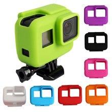 ซิลิโคนที่มีสีสันยางกรอบป้องกันสำหรับ GoPro HERO 5 6 7 สีดำสำหรับ Go Pro 5 กล้องอุปกรณ์เสริม