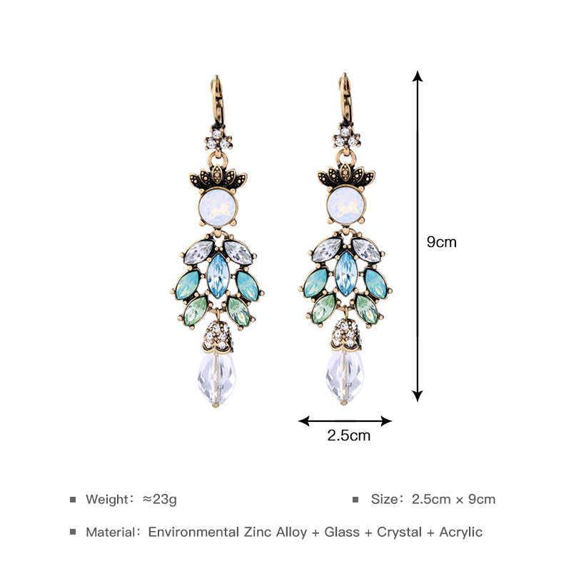 4321d0794374d JOOLIM Black Friday Deal /Green Chandelier Earring Long Crystal Statement  Earring Cocktail Jewelry Charming Accessories
