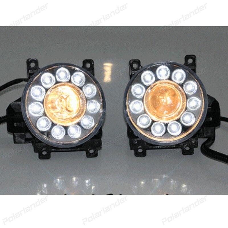 1 pair Car Styling Daytime Running Light for T/oyota R/AV4 DRL 2014-2015 Fog Light Front Lamp Auto Parts