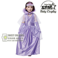 Girls Vampire Halloween Queen Dress Zombie Clothing Masquerade Party Princess Ball Gown Performance Stage Costume