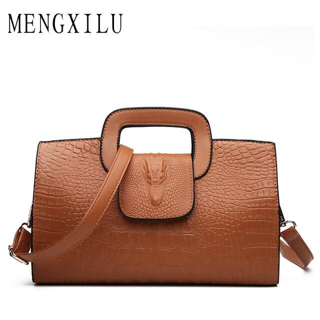 7200fac0e20b MENGXILU Aligator Luxury Handbags Women Bag Designer High Quality PU  Leather Bags Handbags Female Crossbody Bags For Women Sac