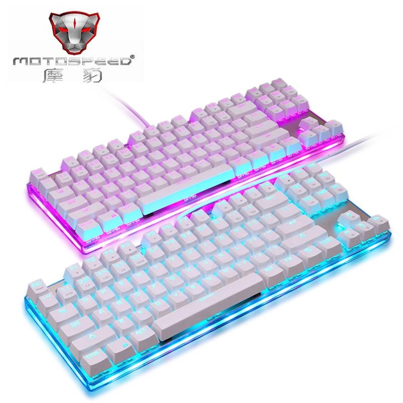 Original Motospeed K87S NKRO Mechanical Keyboard RGB Backlight 9 Kinds Of Themes Cool Backlighting Anti-Ghosting Keys For Gaming themes
