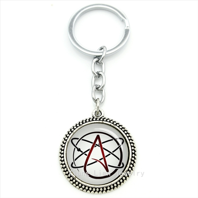 Wholesaleretail Atheist Symbol Men And Women Jewelry Keychain