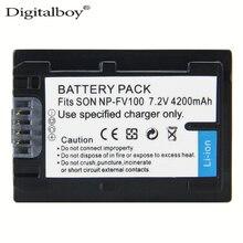 DigitalBoy 1 PCS NP-FV100 FV100 NP FV100 Bateria para Sony DCR-DVD103 XR100 HDR-XR550/E HDR-XR350/E HDR-XR150/E de Alta Qualidade
