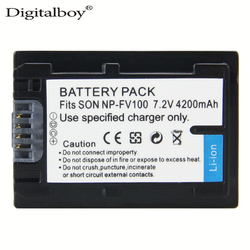 DigitalBoy 1PCS NP-FV100 FV100 NP FV100 Battery for Sony DCR-DVD103 XR100 HDR-XR550/E HDR-XR350/E HDR-XR150/E High Quality