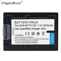 Digitalboy 1ピースnp-fv100 fv100 npfv100 np fv100バッテリー用ソニーDCR-DVD103 xr100 HDR-XR550/e HDR-XR350/e HDR-XR150/e高品