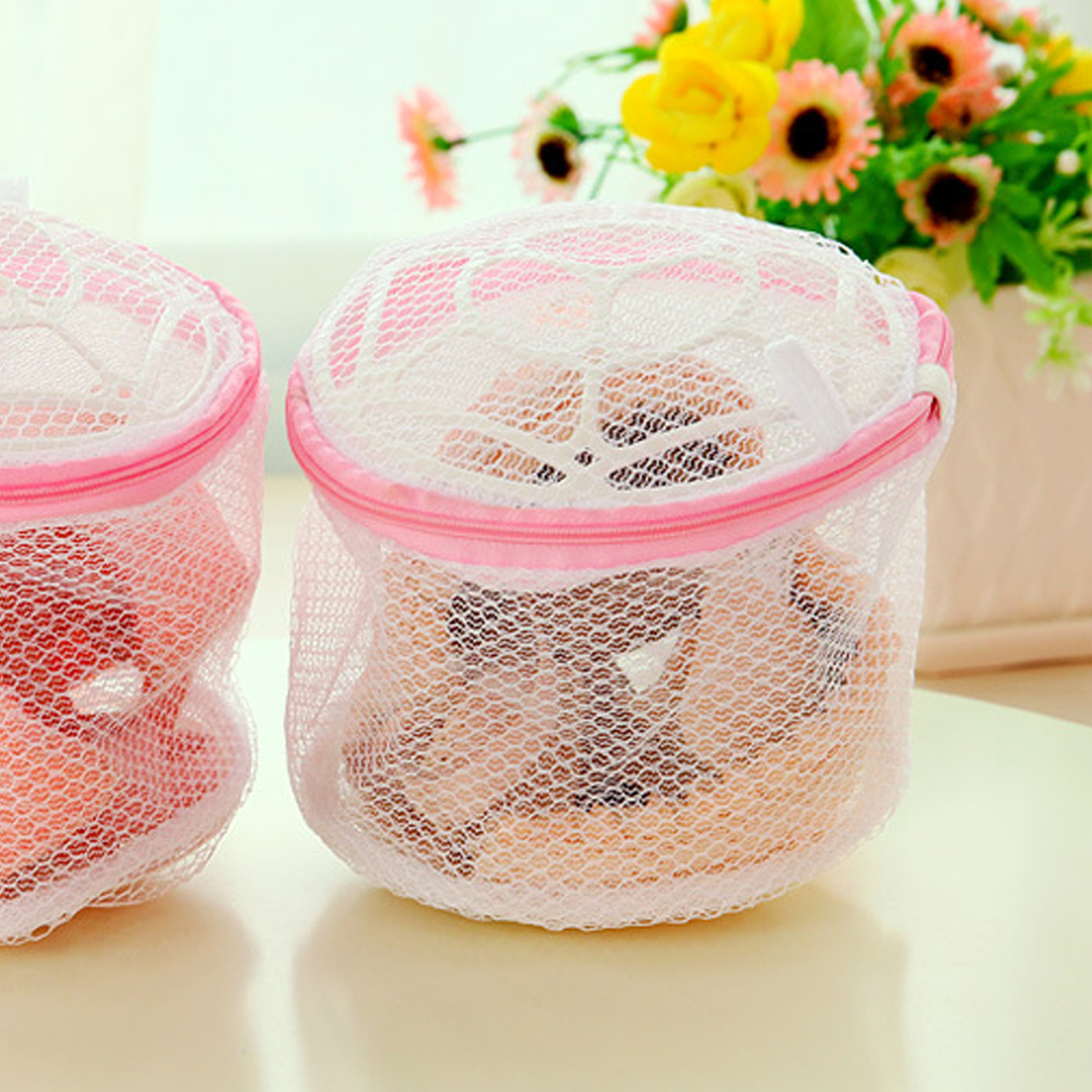 New 19x14cm Multifunction Wash Protect Bag Bra Care With Hanger Bra Underwear Storage Drying Rack Basket Laundry Bags & Baskets