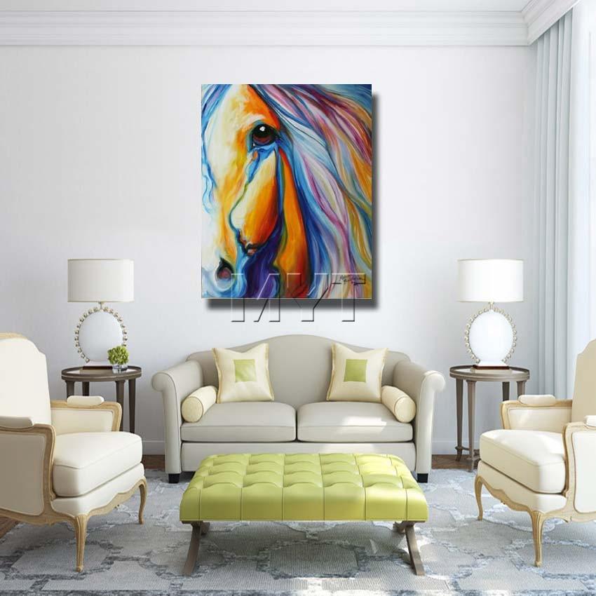Con marco medio Cara caballo diseñado gran caballo pinturas del arte ...