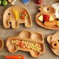 Ins Sore serviço Tray placa bebê Animal placa de madeira tigela de frutas prato sobremesa prato DIY Bento Box bonito criança Dishwares