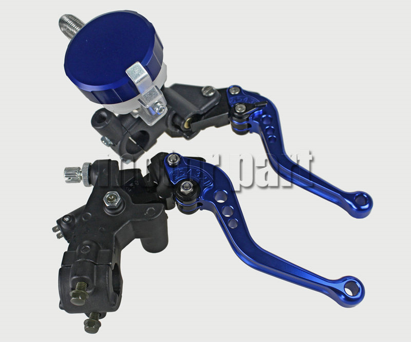 Blue Color 22mm 7/8 Universal Handlebar Adjustable CNC Brake Clutch Levers Master Cylinder Fluid Oil Reservoir Set For BMW universal motorcycle brake fluid reservoir clutch tank oil fluid cup for mt 09 grips yamaha fz1 kawasaki z1000 honda steed bone