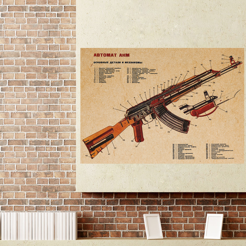 Manly Wall Decor compare prices on room decorations gun- online shopping/buy low