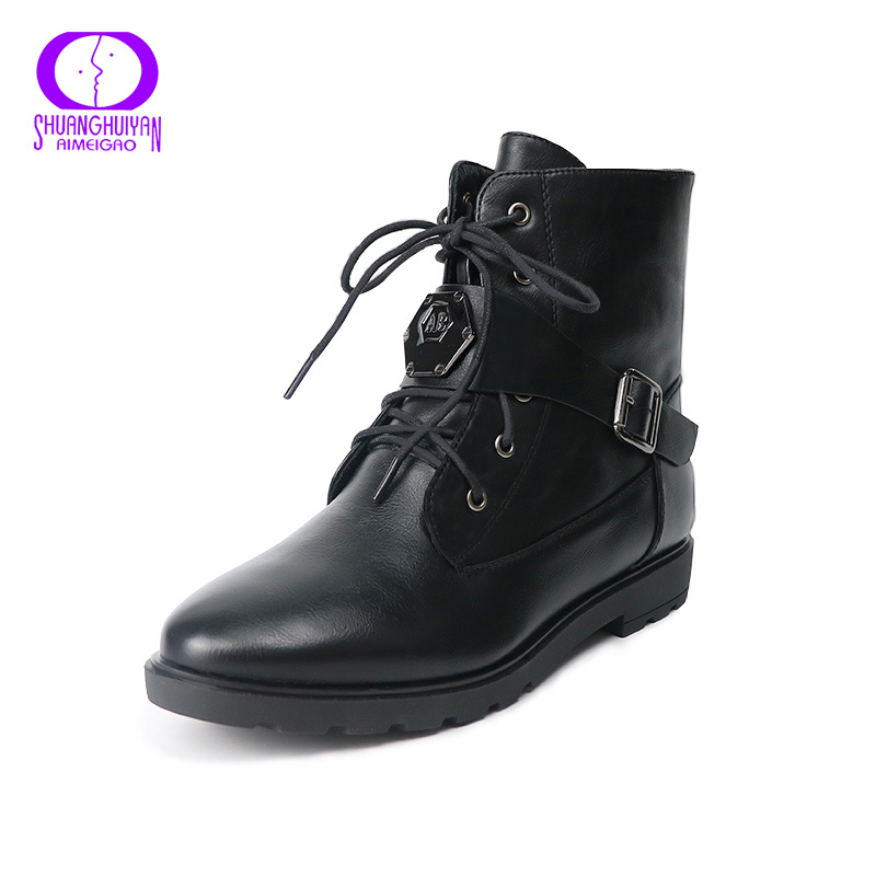 Online Get Cheap Womens Flat Black Ankle Boots -Aliexpress.com ...