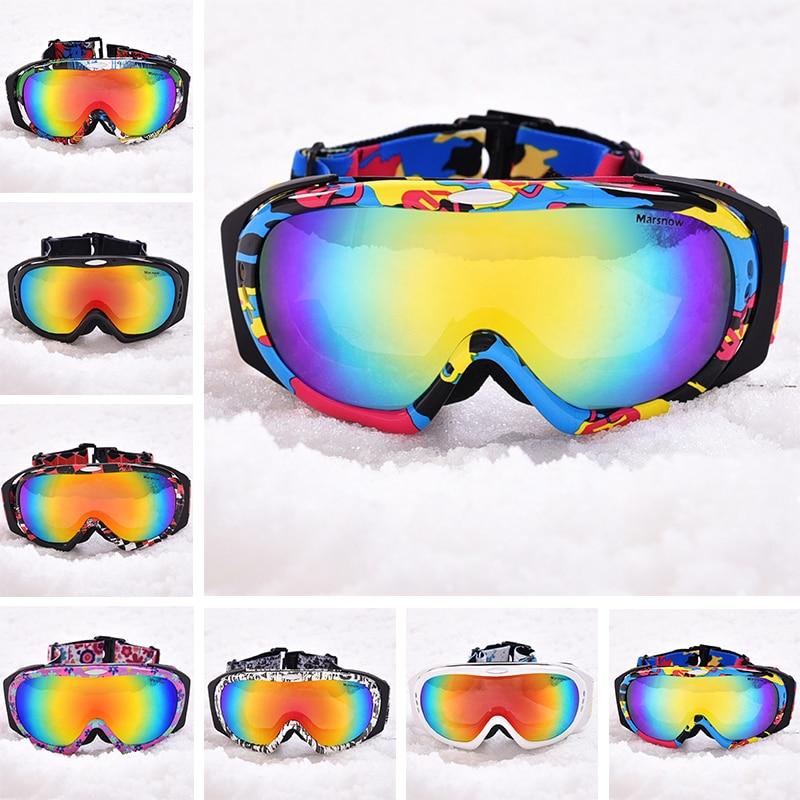 Marsnow hommes lunettes de Ski professionnel Snowboard lunettes hiver UV400 Anti-buée lunettes motoneige lunettes polarisées Doubles lentilles
