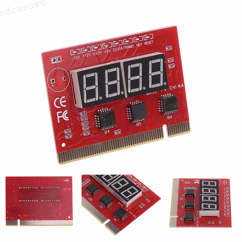 New Computer PCI POST Card Motherboard LED 4-Digit Diagnostic Test PC Analyzer pc laptop motherboard repair troubleshoot boot failure 4 digit diagnostic card
