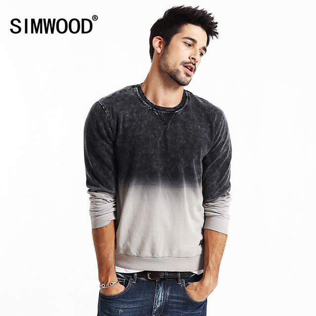 SIMWOOD New Winter fashion Hoodies Men Warm Slim fit Sweatshirt  Casual pullovers assorted colors  WY8026